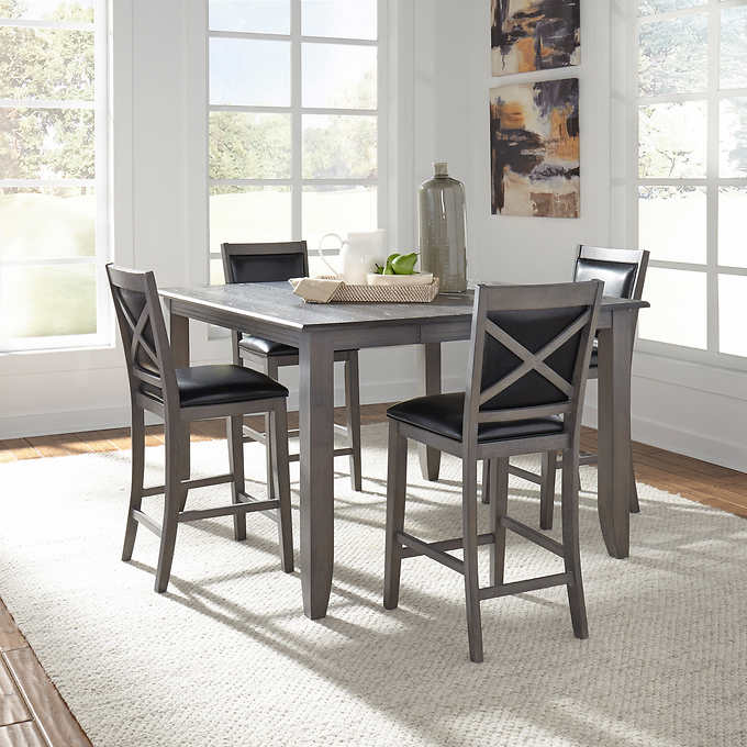 Remarkable Torence 5 Piece Counter Height Dining Set Home Interior And Landscaping Transignezvosmurscom