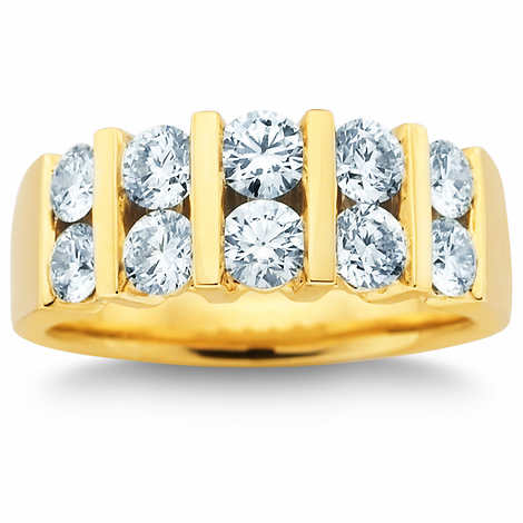 Round Brilliant 1.50 ctw VS2 Clarity, I Color Diamond Double-Row Band