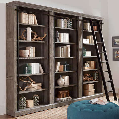 Tuscan 3-piece Bookcase Wall and Ladder - 3948824 , 100370359 , 454_100370359 , 2701.99 , Tuscan-3-piece-Bookcase-Wall-and-Ladder-454_100370359 , usexpress.vn , Tuscan 3-piece Bookcase Wall and Ladder