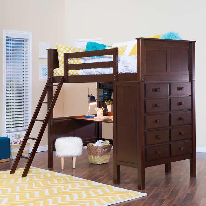 Kenai Twin Study Loft Bed