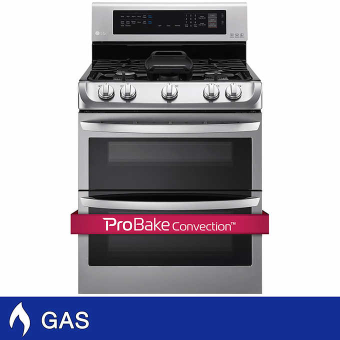 1bfd7d09806 LG 6.9CuFt GAS Double Oven with ProBake Convection and 18