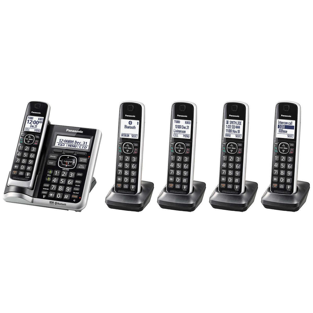 Panasonic Kx Tg885 Dect 60 Bluetooth 5 Handset Phone Bundle