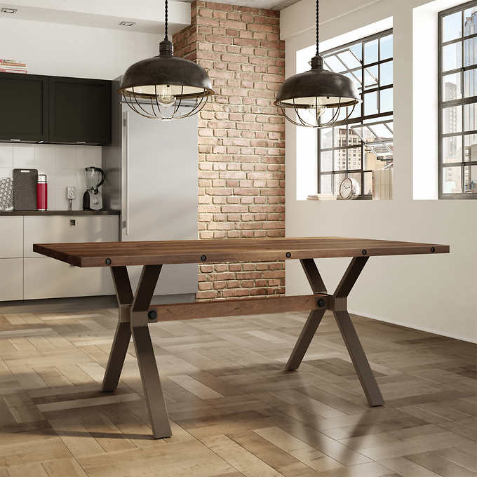 Out Of Stock Elmwood Dining Table Brown 1