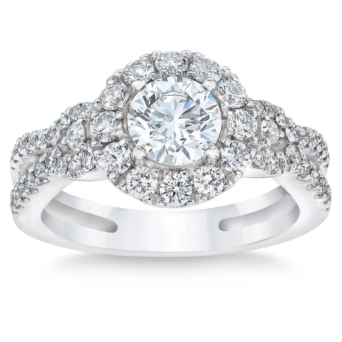 9937868d1f5 Round Brilliant 1.61 ctw VS2 Clarity, I Color Diamond Platinum Ring