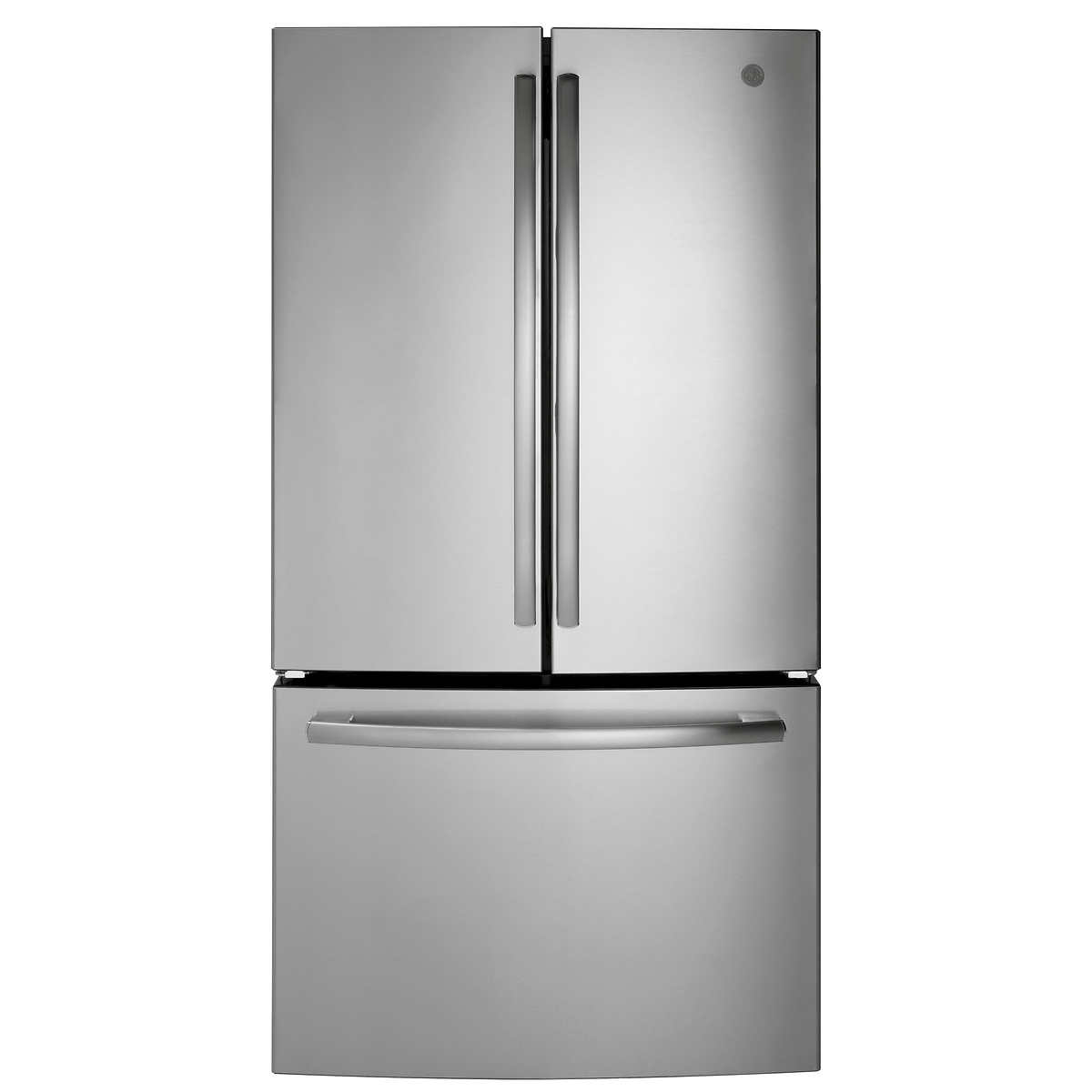 ge 27.0cuft french-door refrigerator with spill-proof shelves