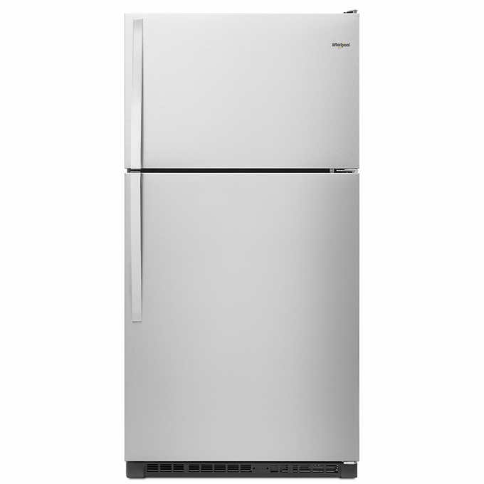 Whirlpool 20CuFt Wide Top Freezer Refrigerator in Fingerprint