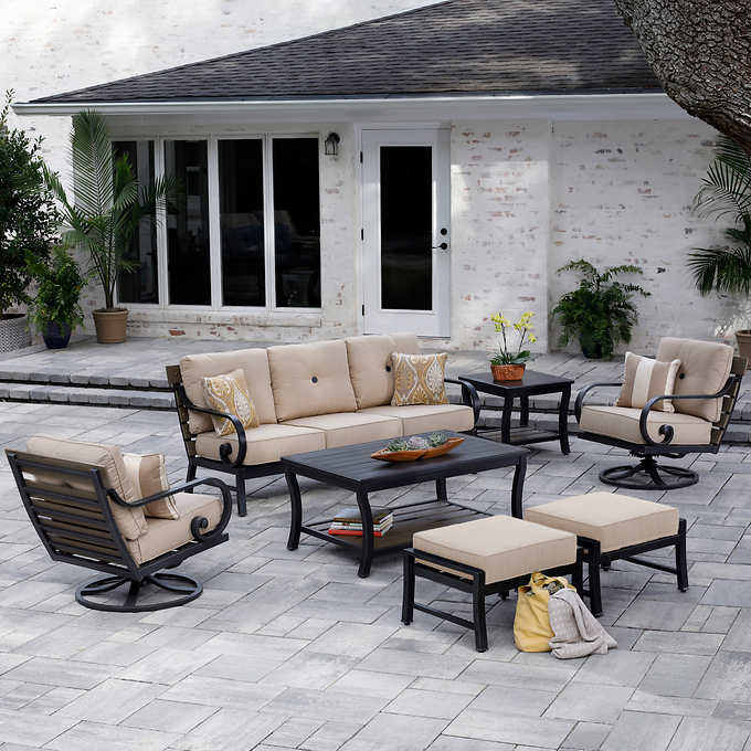 Awesome Reserve 7 Piece Deep Seating Set Pabps2019 Chair Design Images Pabps2019Com