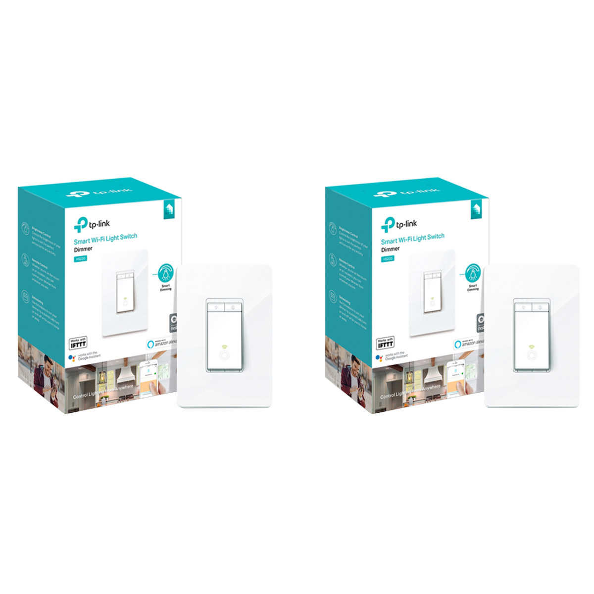 TP Link Smart Dimmer Switch, 2-pack
