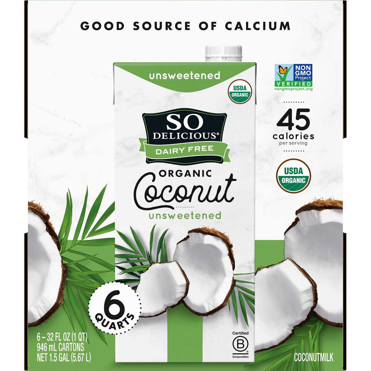 So Delicious Organic Coconut Milk, 32