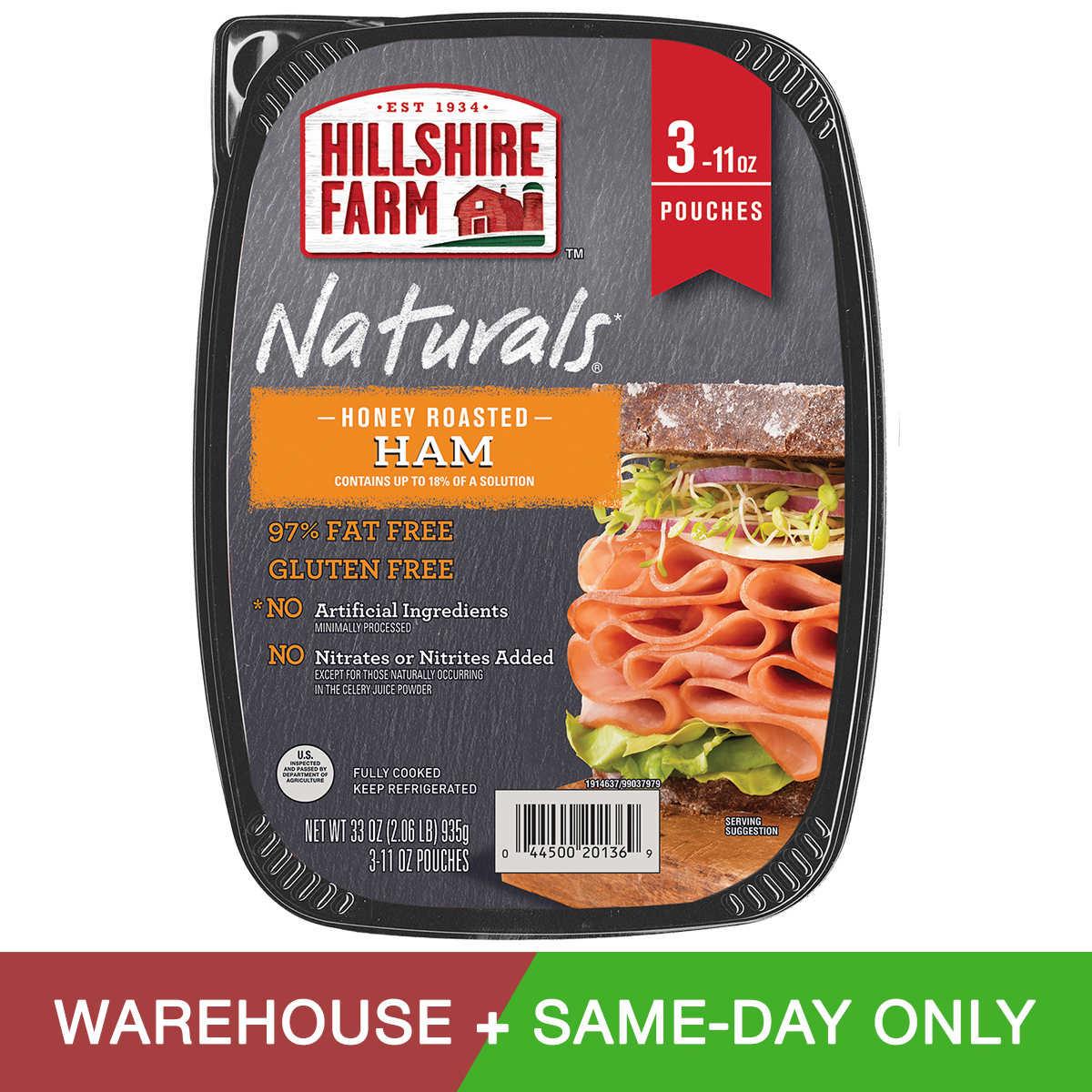 Hillshire Farm Naturals Honey Roasted Ham, 11 oz , 3-count