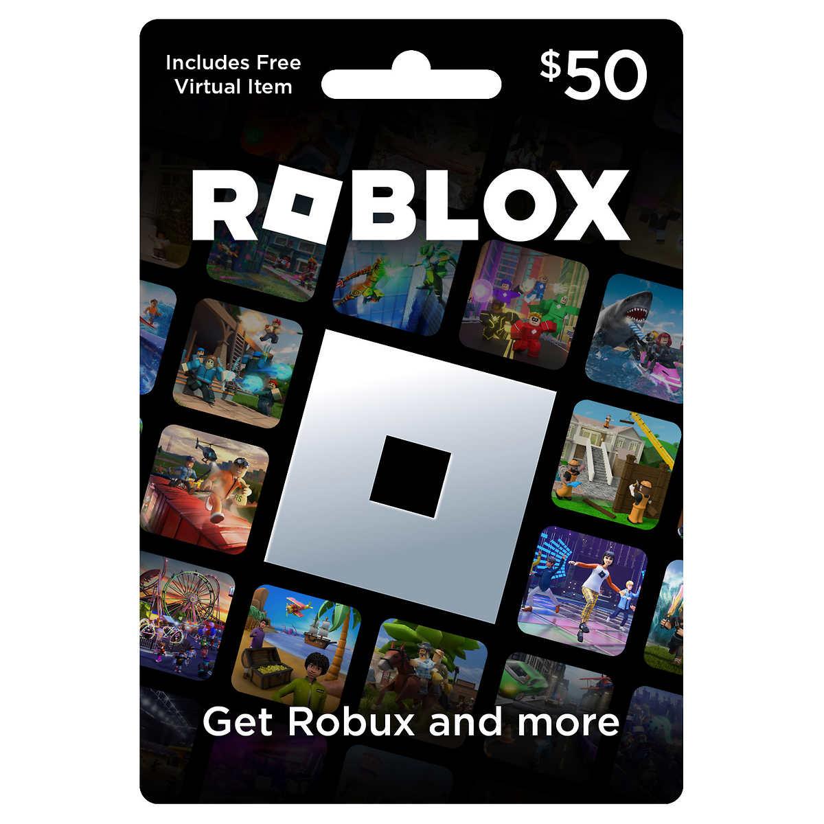 Roblox Game Card $50 Digital Download