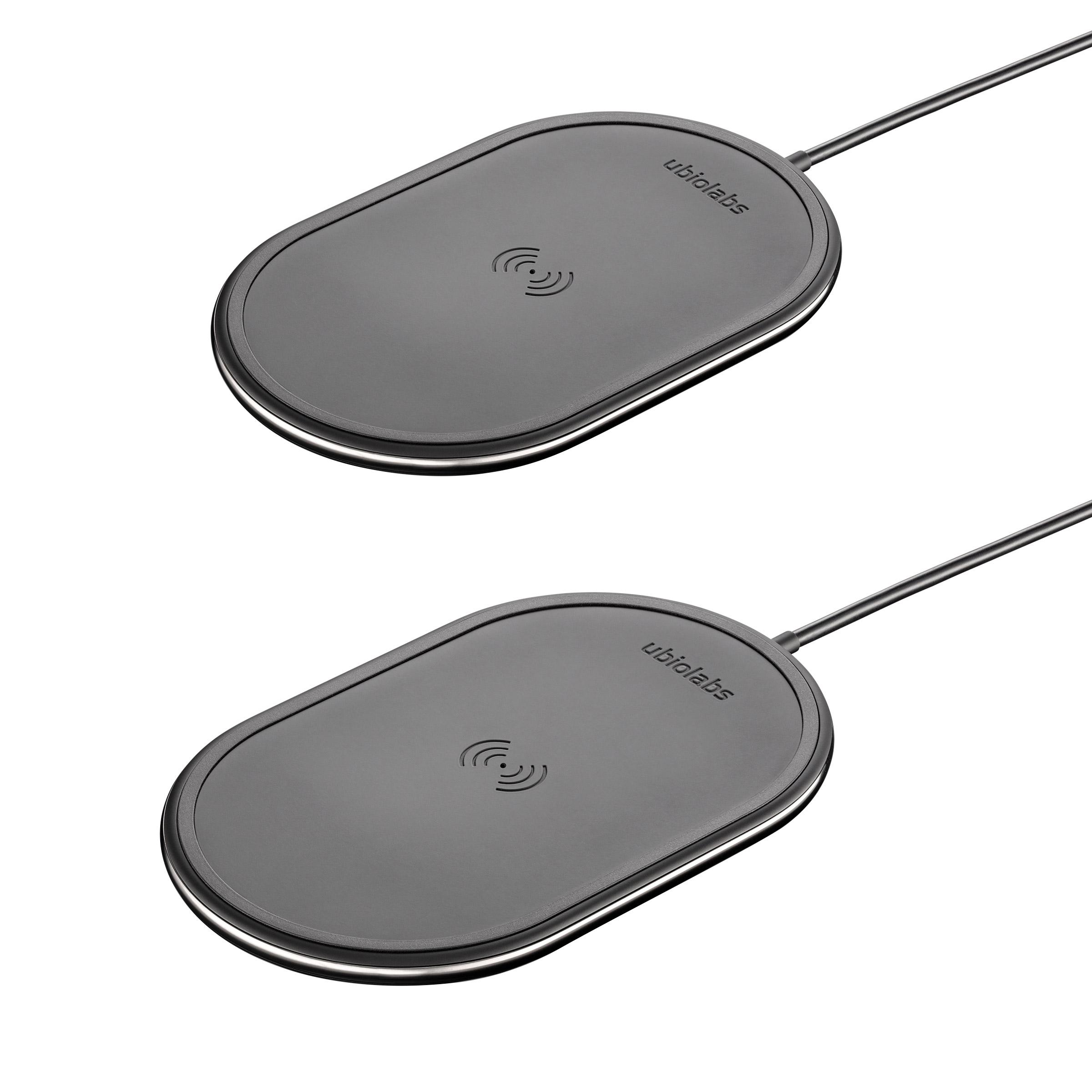 Ubio Labs 10W Qi Wireless Charging Pad 2-pack