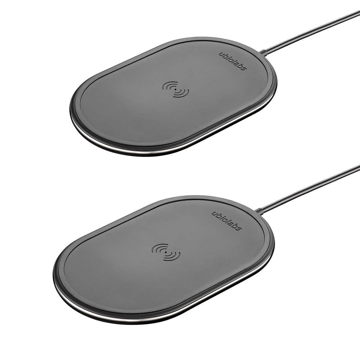 Ubio Labs 10W Qi Wireless Charging Pad, 2-pack