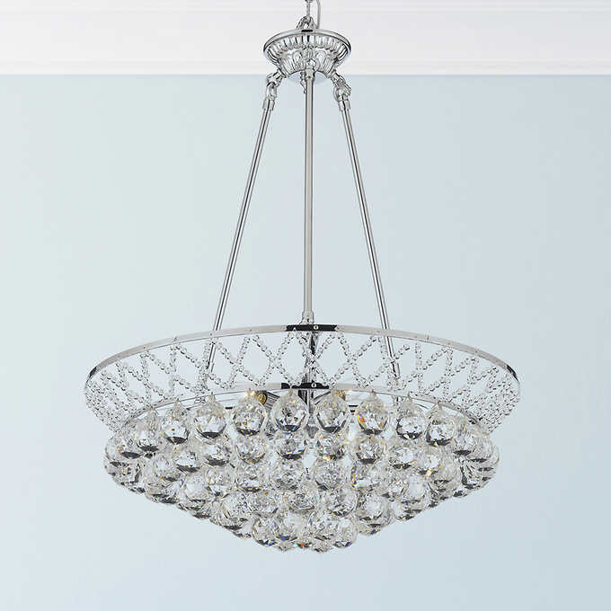 Lighting By Pecaso Charlotte Chandelier In Gold Or Chrome