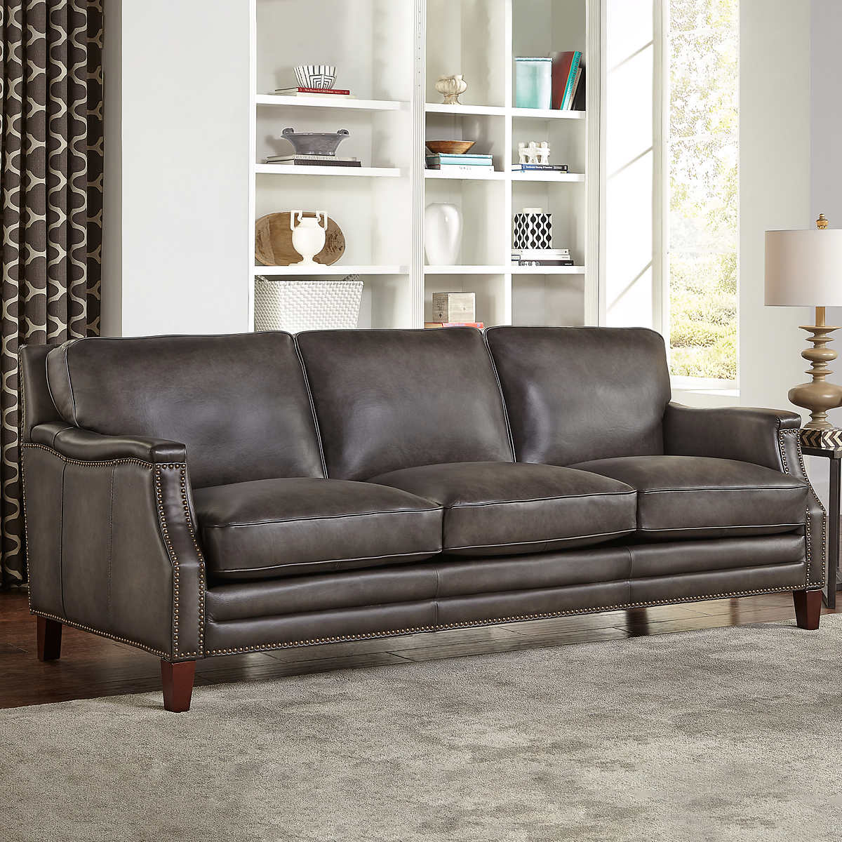 Edgewood Top Grain Leather Sofa