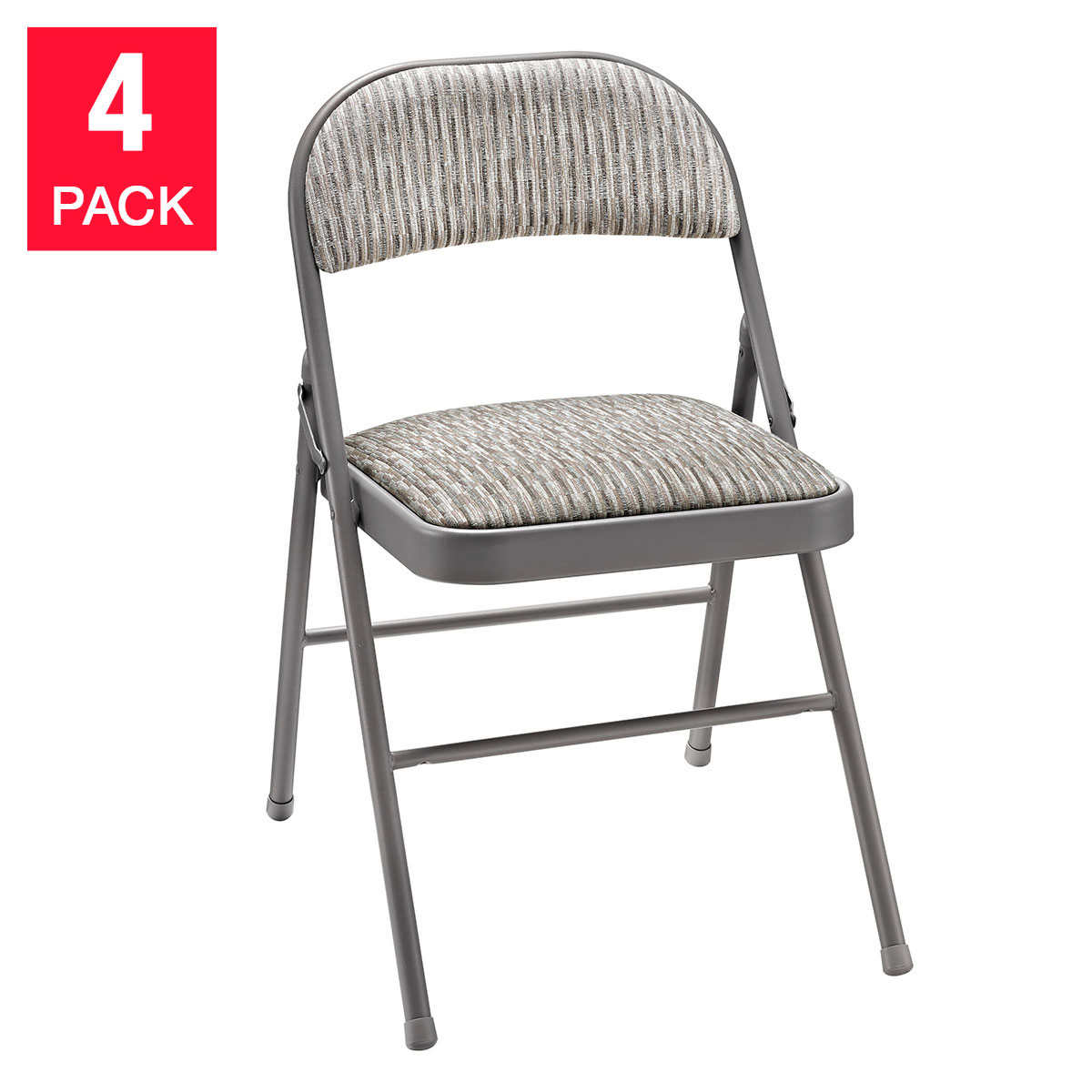 Meco Upholstered Folding Chair, 4-Pack