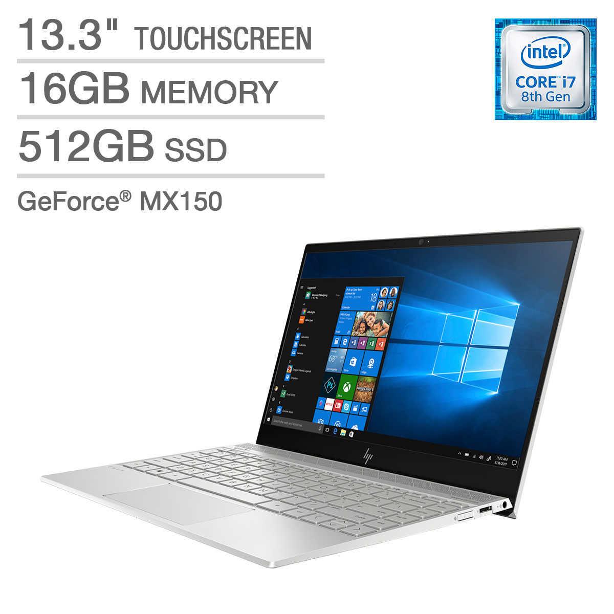 HP ENVY 13 Touchscreen Laptop - Intel Core i7 - GeForce MX150 - 4K Ultra HD