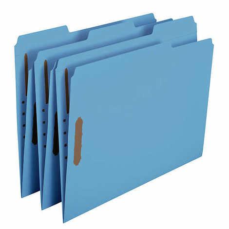 Smead 2-Fastener File Folder, Reinforced 1/3-Cut, Letter, Blue, 50-count - 3946464 , 11152521 , 454_11152521 , 31.99 , Smead-2-Fastener-File-Folder-Reinforced-1-3-Cut-Letter-Blue-50-count-454_11152521 , usexpress.vn , Smead 2-Fastener File Folder, Reinforced 1/3-Cut, Letter, Blue, 50-count