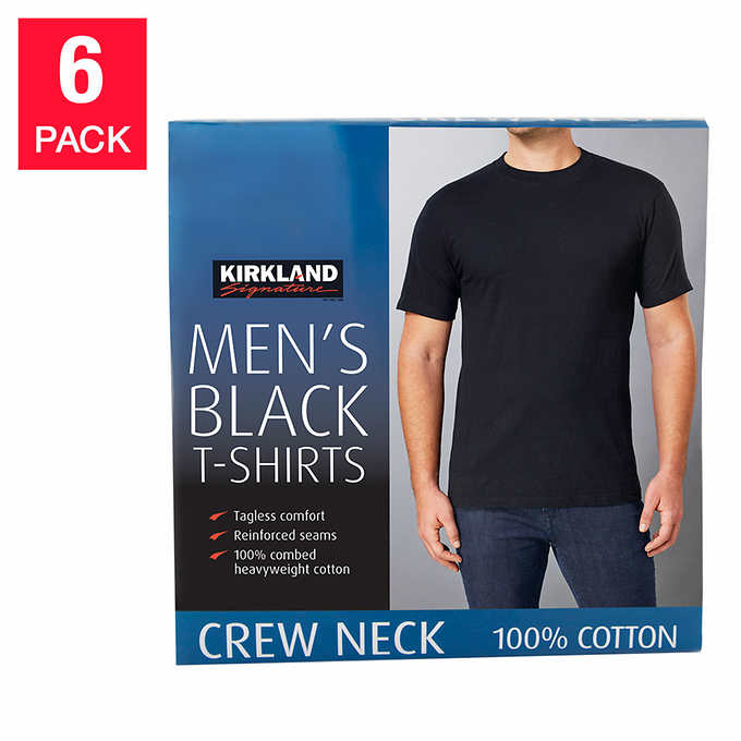 744fa7cb9c Out of Stock Kirkland Signature Men's Crew Neck Tee, 6-pack. black 1 black 1