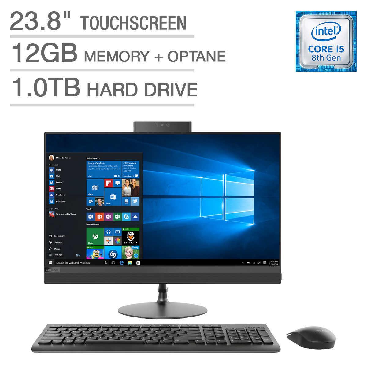 Lenovo IdeaCentre 520-24ICB Touchscreen All-in-One Desktop - Intel Core i5  - 1080p