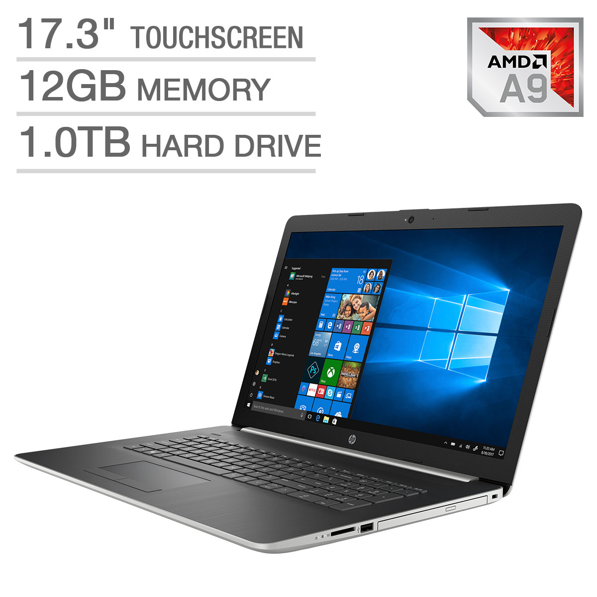 "HP 17.3"" Touchscreen Laptop - AMD A9"
