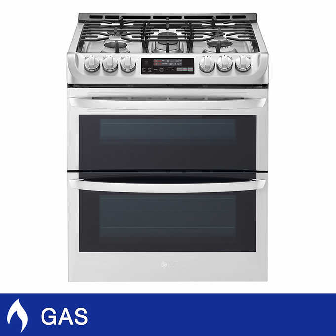 Lg 69cuft Gas Double Oven Slide In Range With Probake