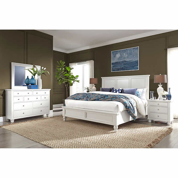 Baldwin Park 5 Piece King Bedroom Set White 1