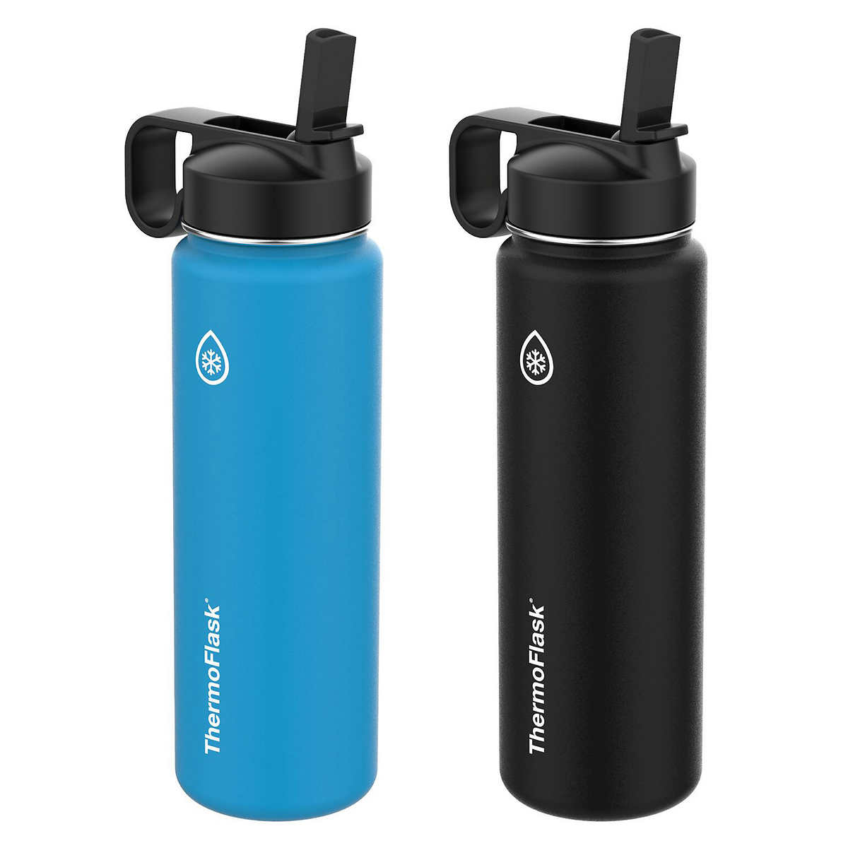 6a3209b4c7e Thermoflask Stainless Steel 24oz Water Bottle with Straw Lid