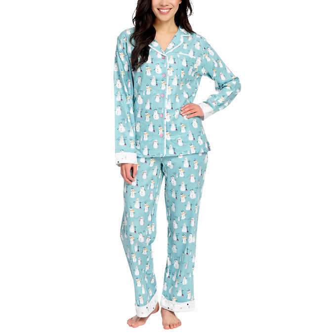 cfb87b6e8796 Munki Munki Ladies  2-piece Flannel PJ Set