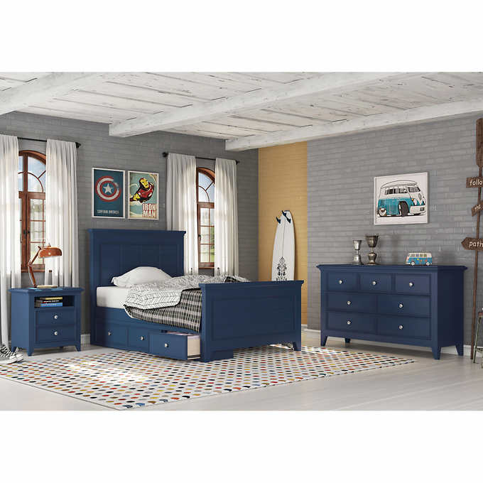 Beckham 4-piece Youth Full Bedroom Set with 3-drawer Storage
