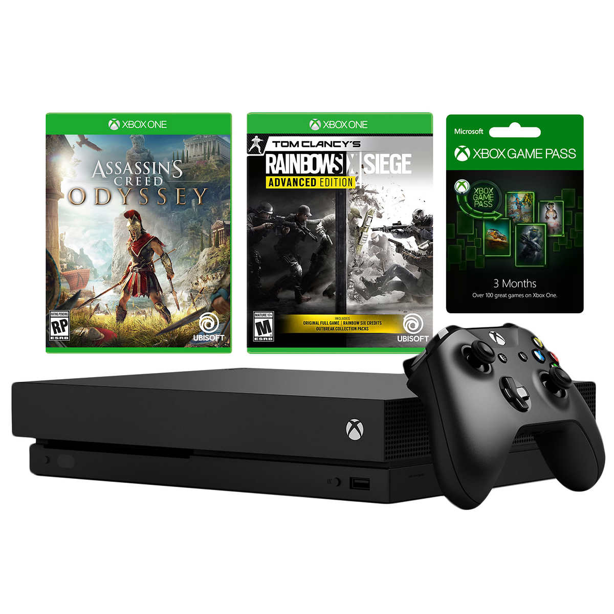XBOX One X 1TB Bundle with 2 Games + 3-Month Game Pass
