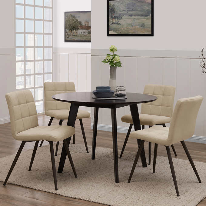 Oliver Tufted Dining Chair 4 Pack Tan 1
