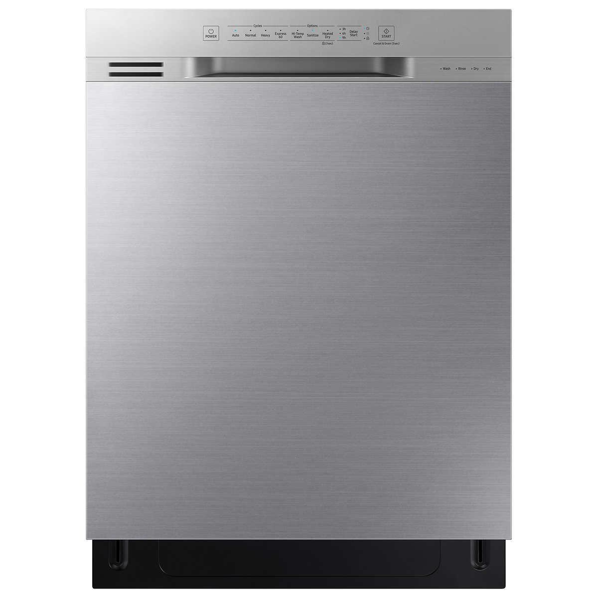 Samsung Front Control Dishwasher with Stainless Steel Interior in
