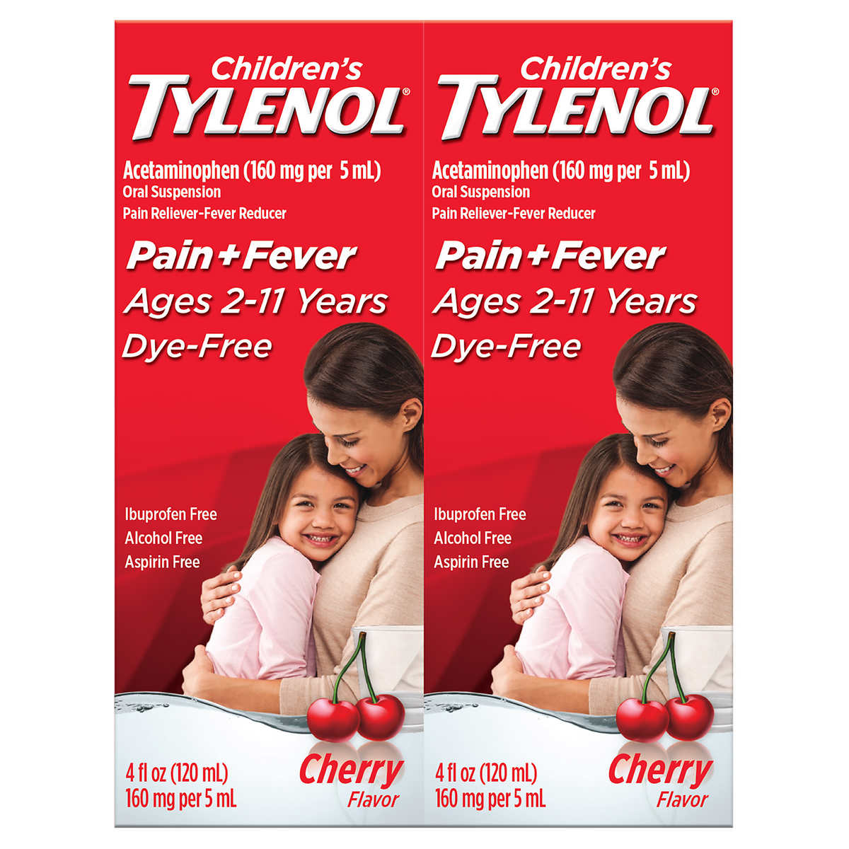 Suspending Little Kids Can Do More Harm >> Children S Tylenol Dye Free Cherry Flavor Suspension 8 Ounces