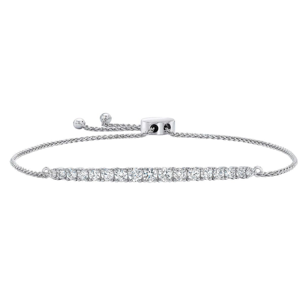 f2cb2adff ... Round Brilliant 1.00 ctw VS2 Clarity, I Color Diamond 14kt White Gold  Bracelet. 1 1