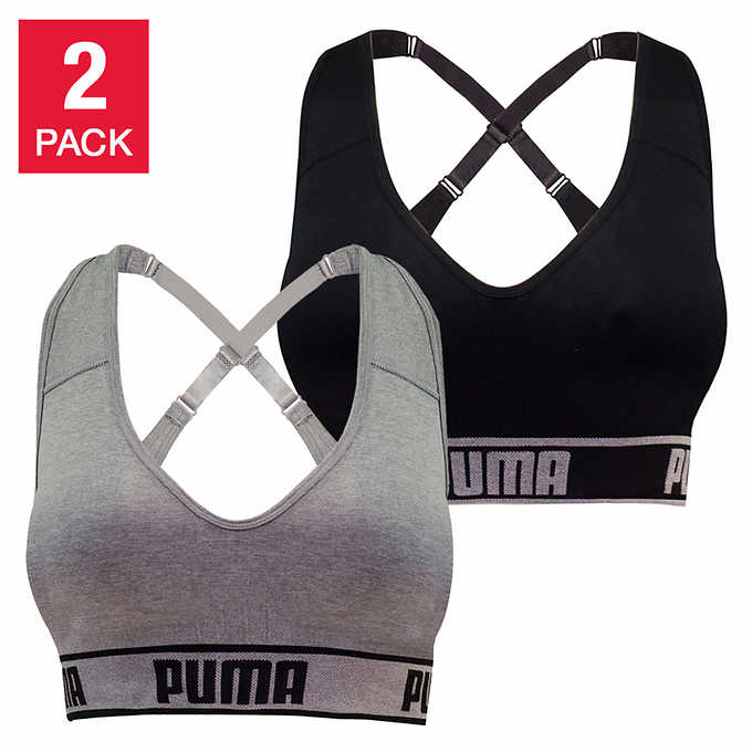 93b68a9b Puma Ladies' Seamless Sports Bra, 2-pack