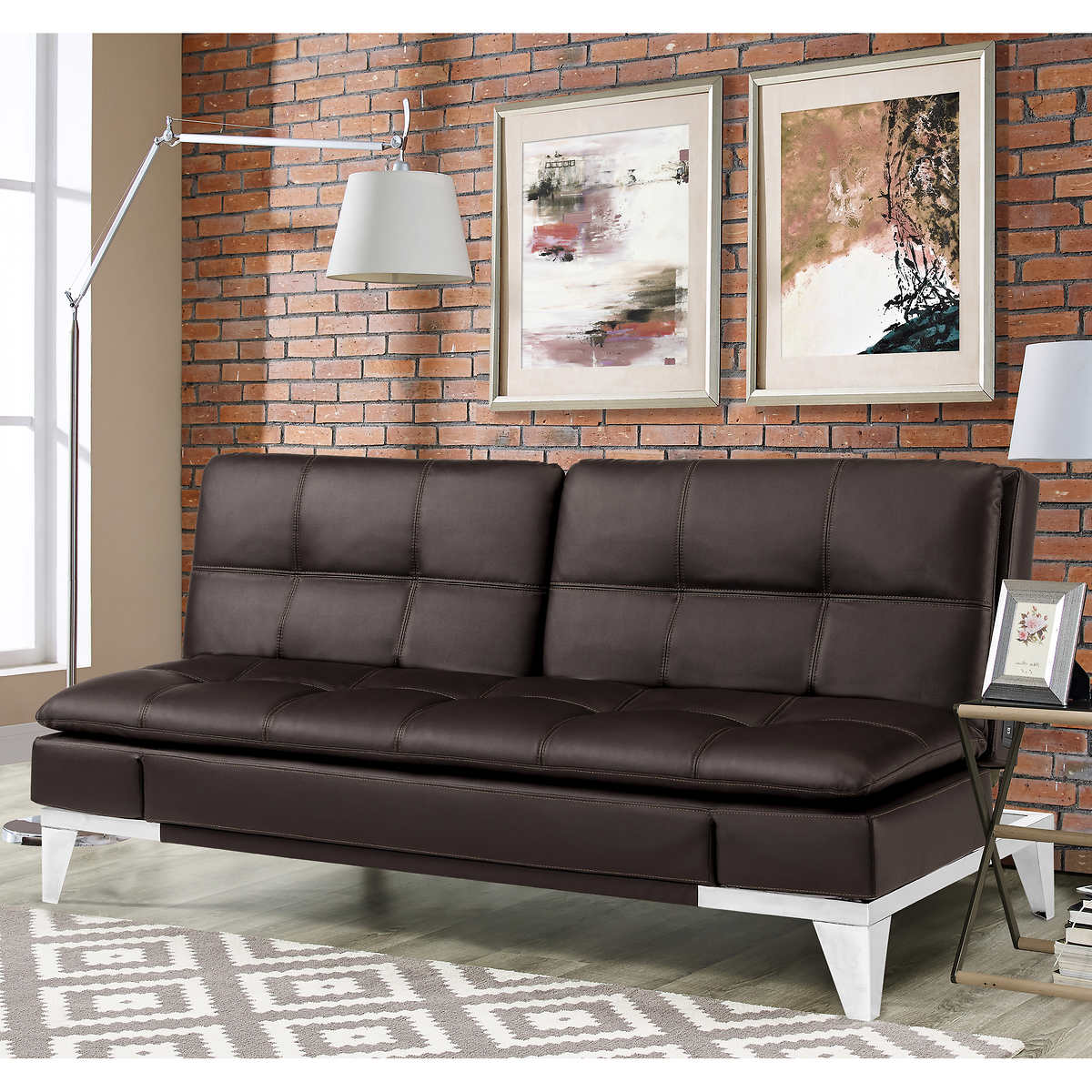 Jeneva Bonded Leather Euro Lounger