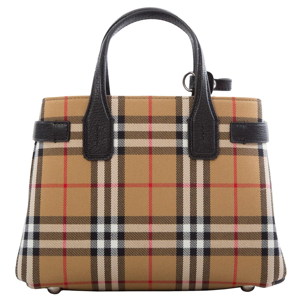 3e6e6c8b22a3 Burberry Small Banner Vintage Check Bag, Vintage Check
