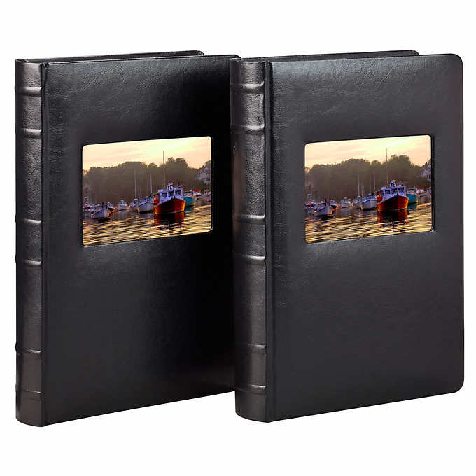 Old Town Bonded Leather Book Bound Photo Albums 2 Pack