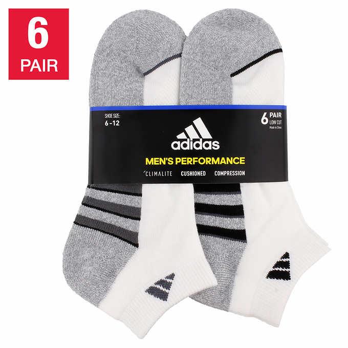 adidas Men's Low Cut Sock, 6 pair
