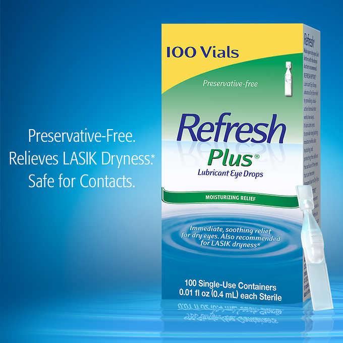 Refresh Plus Lubricant Eye Drops, Sensitive, Preservative