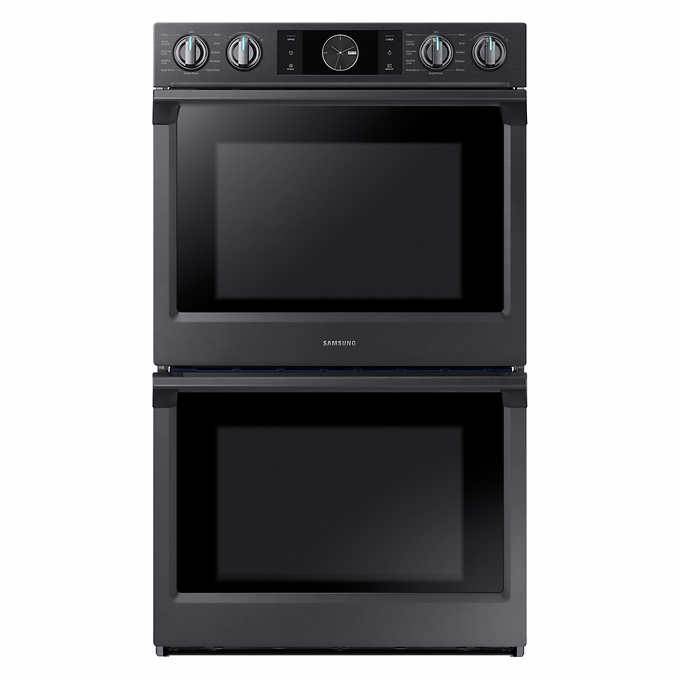 Samsung 30 In Double Electric Wall Oven With Flex Duo And Steam Cook