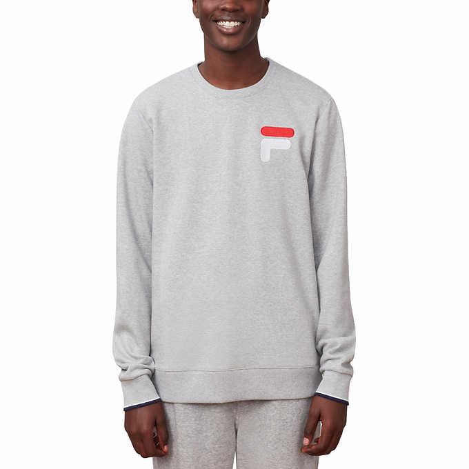 f0412ca45 Fila Men's French Terry Crew Neck Sweatshirt. gray 1 gray 1
