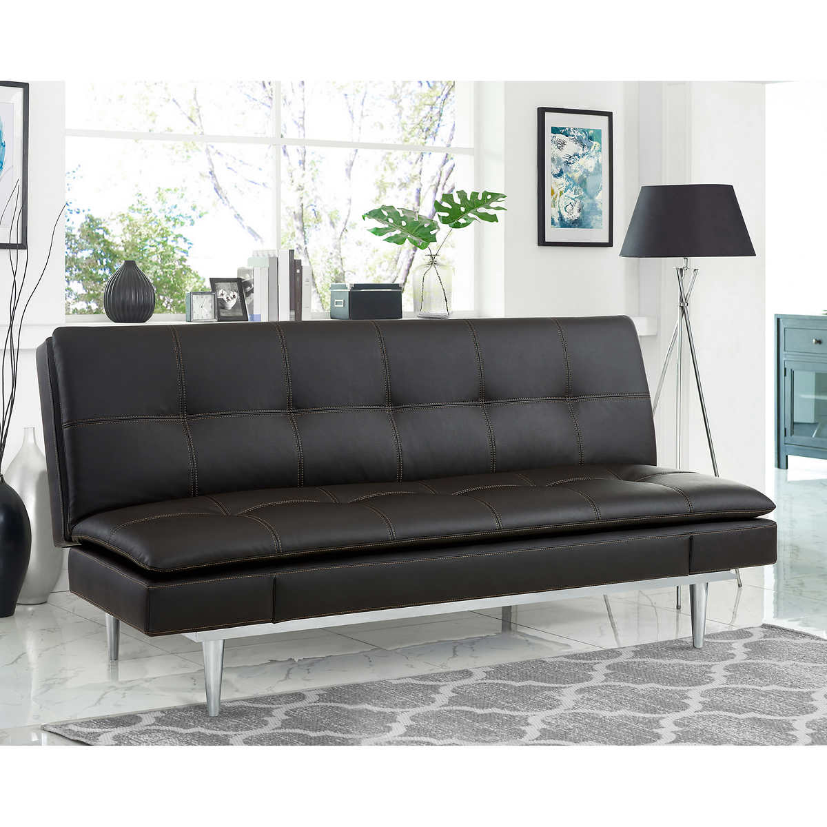 Russel Beautyrest Bonded Leather Euro Lounger