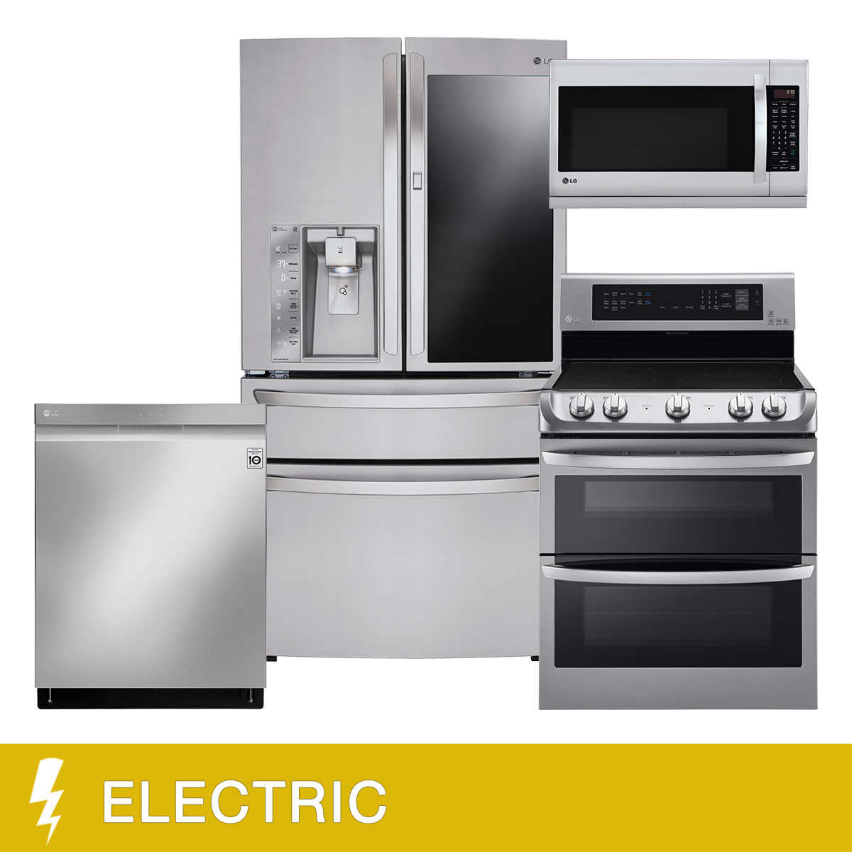 LG 4-piece Electric 23CuFt WiFi Enabled Instaview Kitchen