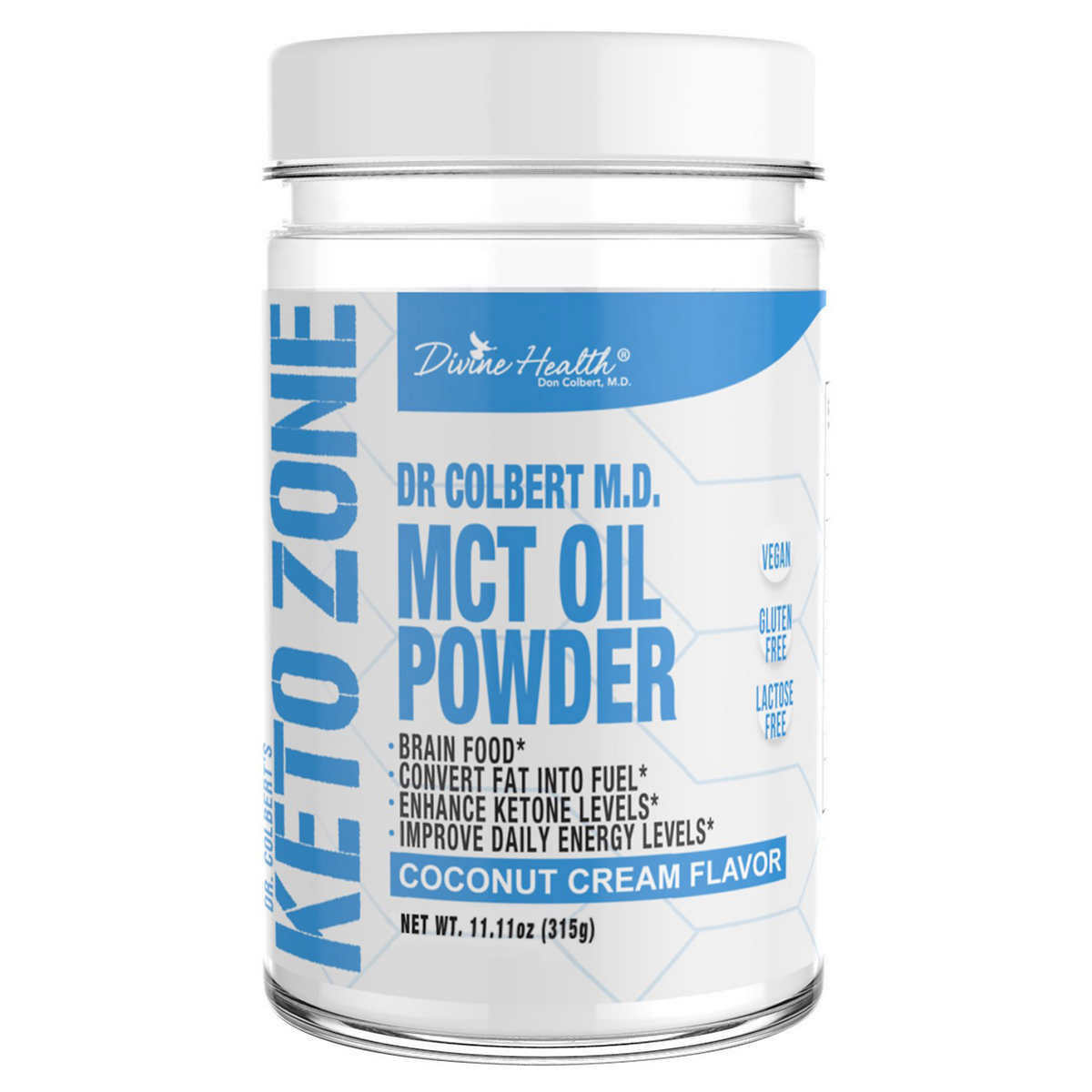 Divine Health Keto Zone MCT Oil Powder, 11 11 oz