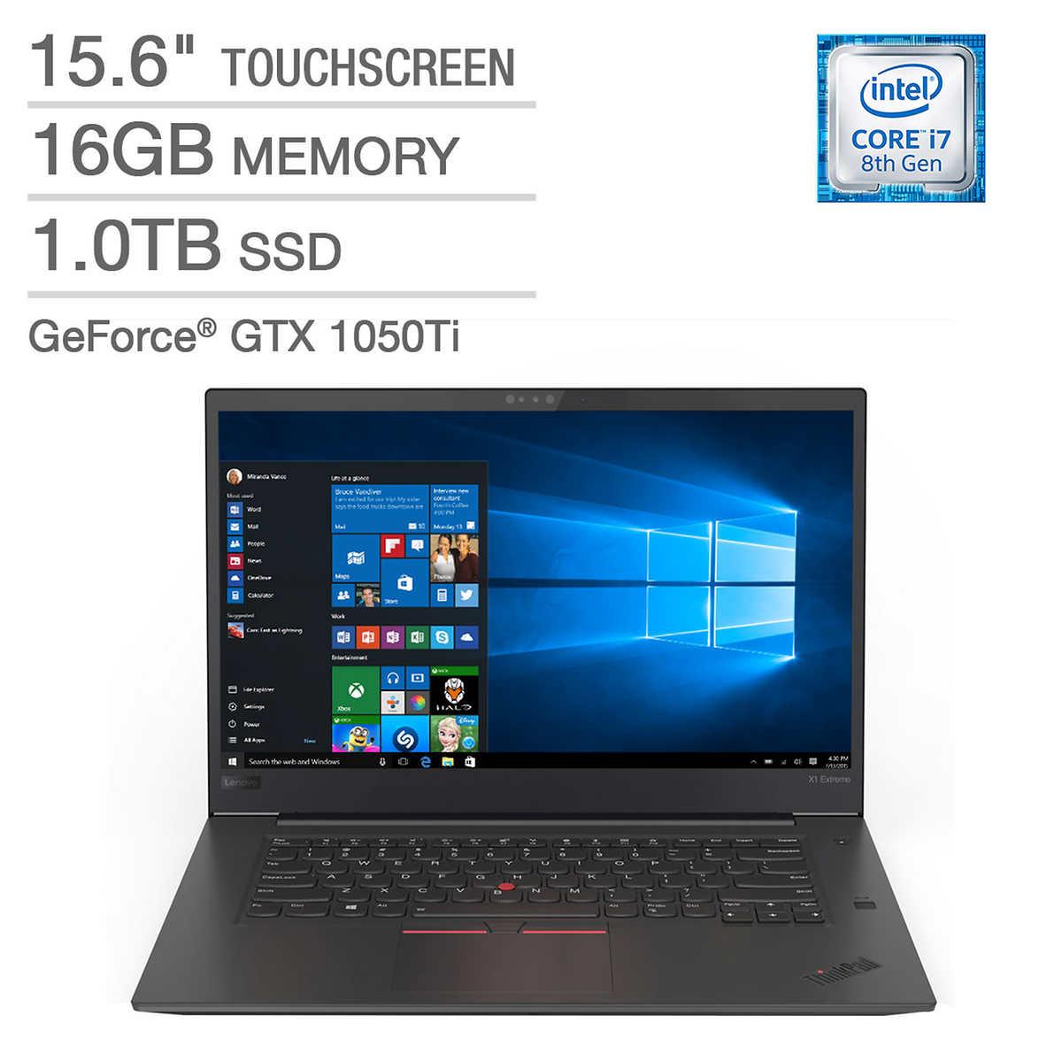 Lenovo ThinkPad X1 Extreme Touchscreen Laptop - Intel Core i7 - GeForce GTX  1050Ti