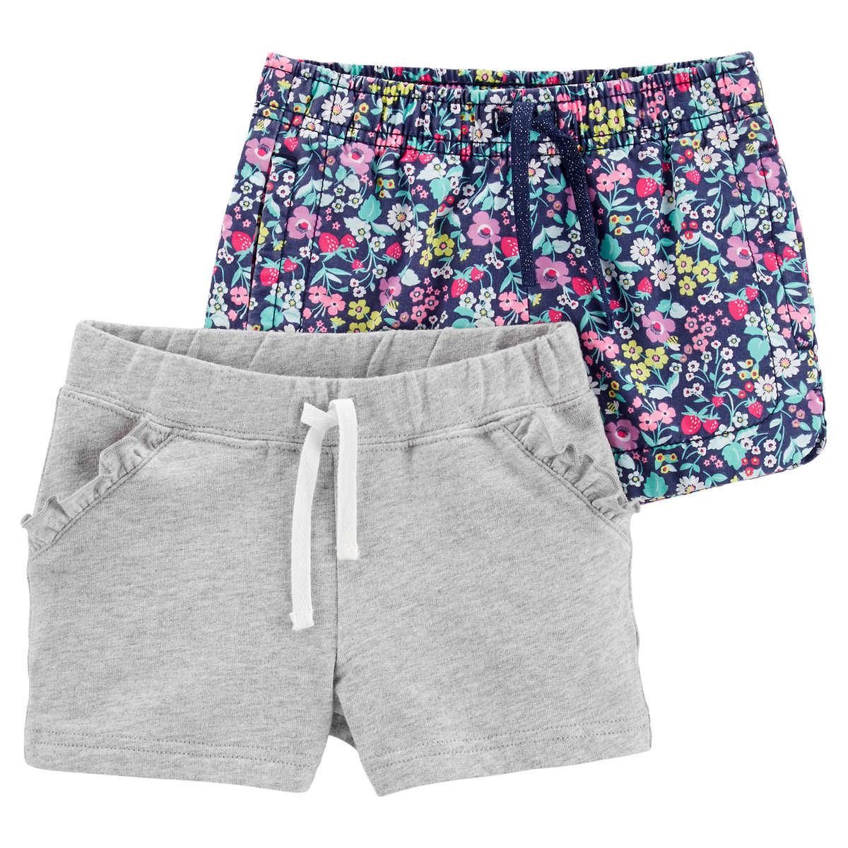995857ce7 Carters Mix & Match, Kids Bottoms, Grey/Flowers, 2-pack
