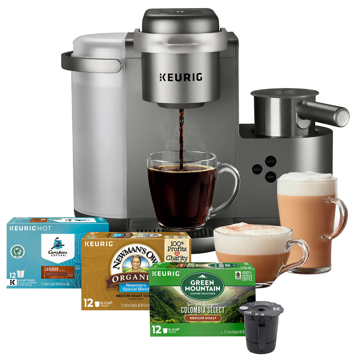 Keurig K-Cafe C Single Serve K-Cup Pod Coffee, Latte and Cappuccino
