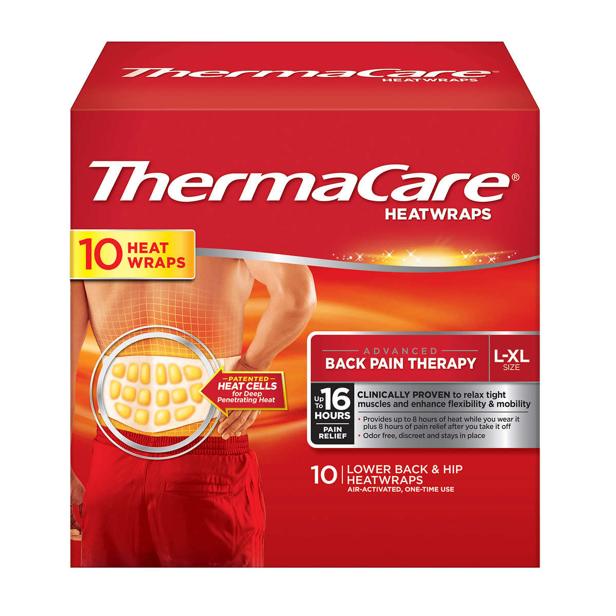 2779549006bd ThermaCare Lower Back & Hip L/XL, 10 HeatWraps